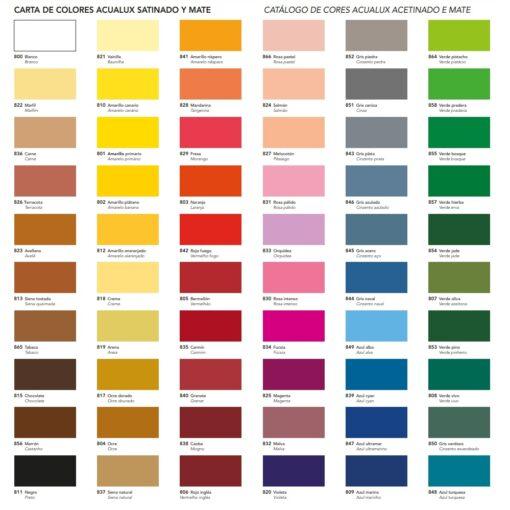 colores acualux satinado titan arts