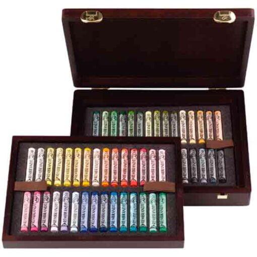 Cajas pastel rembrandt de 60 pasteles blandos de la marca rembrandt con colores especiales para paisajes.