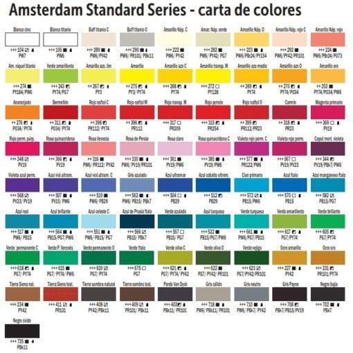 carta de colores amsterdam standard series