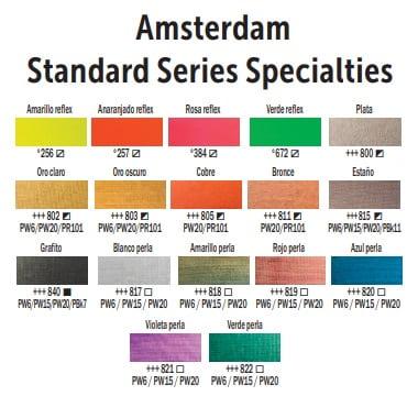 carta de colores amsterdam standard series specialties